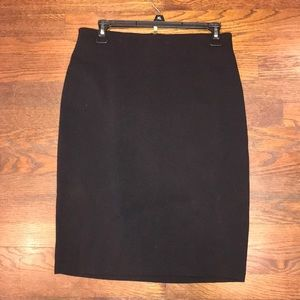 Simple Black Skirt with gold zipper detail
